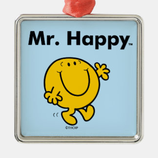 Ornement Carré Argenté M. Happy Is Always Happy de M. Men |