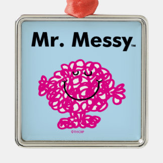 Ornement Carré Argenté M. Messy Is Cute de M. Men |, mais malpropre