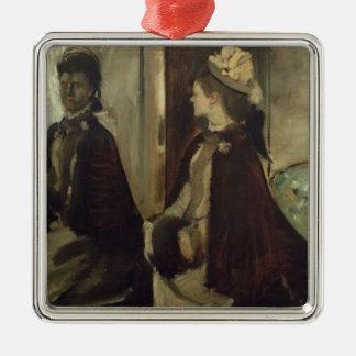 Ornement Carré Argenté Madame Jeantaud d'Edgar Degas | dans le miroir