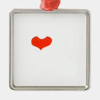 Ornement Carré Argenté main heart1