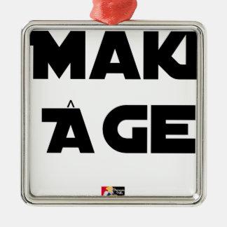 Ornement Carré Argenté MAKI ÂGE - Jeux de mots - Francois Ville