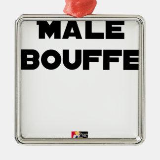 Ornement Carré Argenté MÂLE BOUFFE - Jeux de mots - Francois Ville