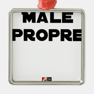 Ornement Carré Argenté MÂLE-PROPRE - Jeux de mots - Francois Ville