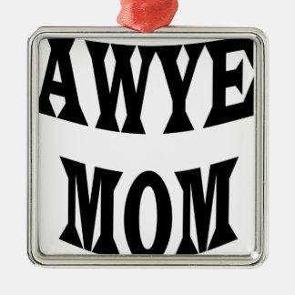 Ornement Carré Argenté maman d'avocat