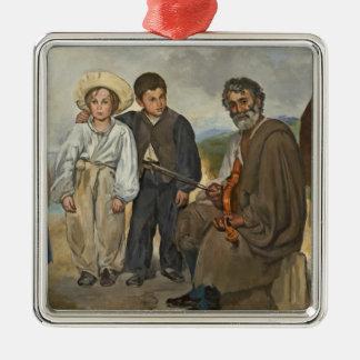 Ornement Carré Argenté Manet | le vieux musicien, 1862