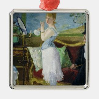 Ornement Carré Argenté Manet | Nana, 1877
