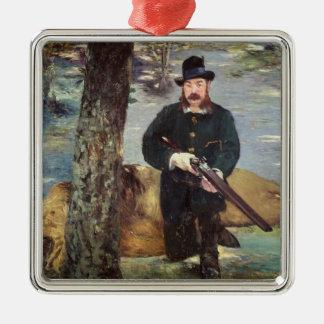 Ornement Carré Argenté Manet   Pertuiset, chasseur de lion, 1881