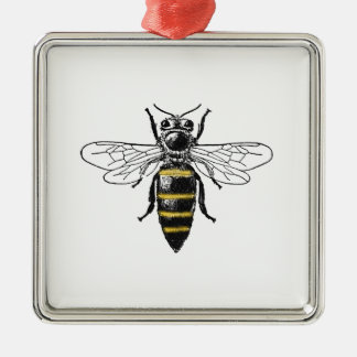 Ornement Carré Argenté Manteau de l'abeille #2 des bras vintage