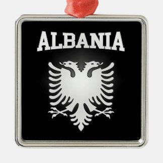 Ornement Carré Argenté Manteau de l'Albanie des bras