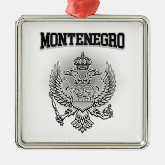 Ornement Carré Argenté Manteau de Monténégro des bras