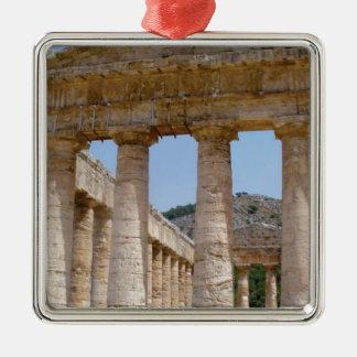 Ornement Carré Argenté marbre grec