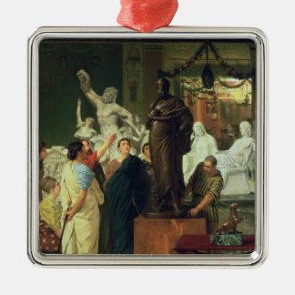 Ornement Carré Argenté Marchand d'Alma-Tadema | en statues