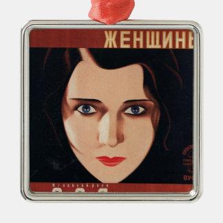 Ornement Carré Argenté Mauvaise jeune femme russe