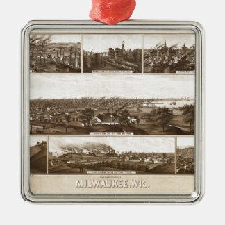 Ornement Carré Argenté Milwaukee 1882