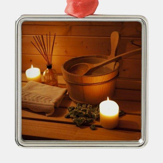 Ornement Carré Argenté Miscellaneous - Sauna Objects Patterns Nineteen