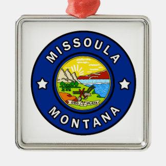 Ornement Carré Argenté Missoula Montana