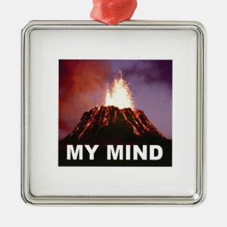 Ornement Carré Argenté mon esprit de volcan