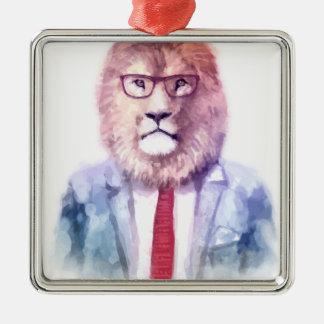 Ornement Carré Argenté Mon lion