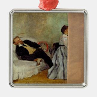 Ornement Carré Argenté Monsieur et Madame Edouard Manet d'Edgar Degas |