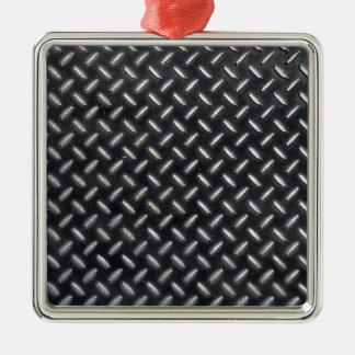 Ornement Carré Argenté motif de diamant-plat