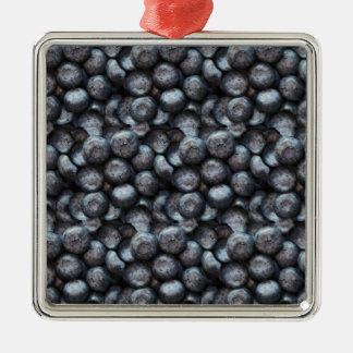 Ornement Carré Argenté Motif mignon de fruit de myrtille