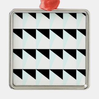 Ornement Carré Argenté motif trichromatique