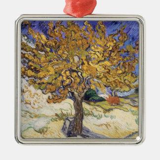 Ornement Carré Argenté Mûrier de Vincent van Gogh |, 1889