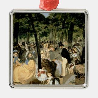 Ornement Carré Argenté Musique de Manet | dans les jardins de Tuileries,