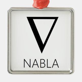 ORNEMENT CARRÉ ARGENTÉ NABLA
