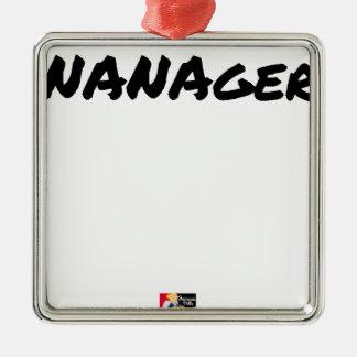 Ornement Carré Argenté NANAGER - Jeux de mots - Francois Ville