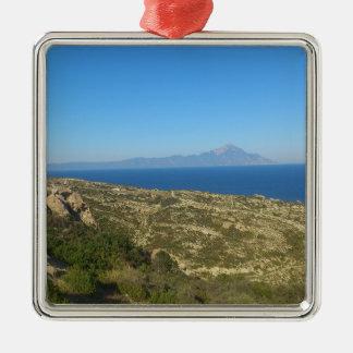 Ornement Carré Argenté Nature du mont Athos Grèce