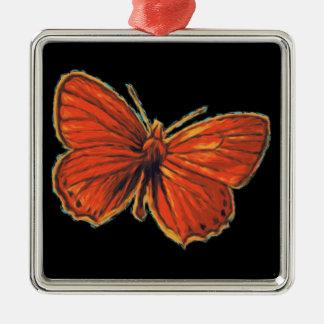 Ornement Carré Argenté Nature gothique rouge de mite d'insecte d'insecte