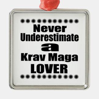 Ornement Carré Argenté Ne sous-estimez jamais l'amant de Krav Maga