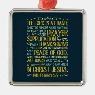 Ornement Carré Argenté Ne soyez pas - 4:5 de Philippiens - 7 soucieux