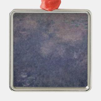 Ornement Carré Argenté Nénuphars de Claude Monet   : Deux saules