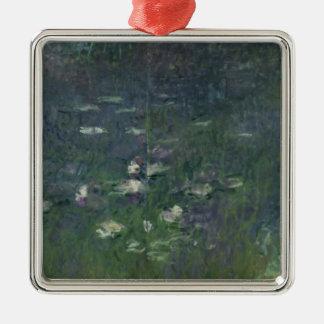 Ornement Carré Argenté Nénuphars de Claude Monet | : Matin, 1914-18