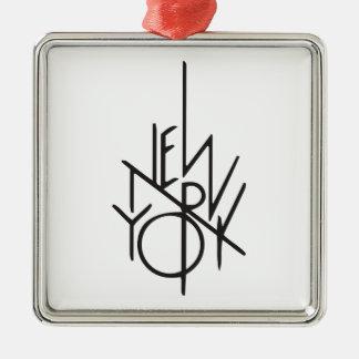 Ornement Carré Argenté New York City
