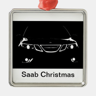 Ornement Carré Argenté Noël de Saab