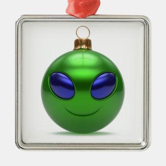 Ornement Carré Argenté Noël étranger