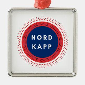 Ornement Carré Argenté Nordkapp Norvège