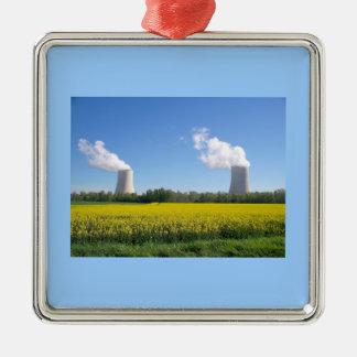 Ornement Carré Argenté Nuclear power plant - Centrale nucléaire