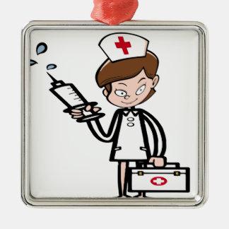 Ornement Carré Argenté nurse20