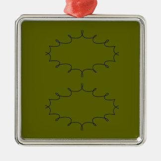 Ornement Carré Argenté Olives d'éléments de conception