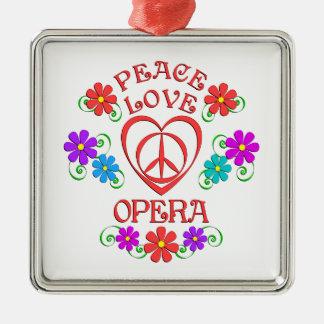 Ornement Carré Argenté Opéra d'amour de paix