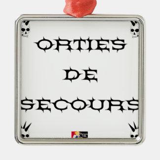 Ornement Carré Argenté Orties de secours - Jeux de Mots - Francois Ville