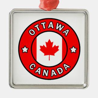 Ornement Carré Argenté Ottawa Canada