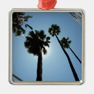 Ornement Carré Argenté Palmiers Los Angeles Hollywood Etats-Unis