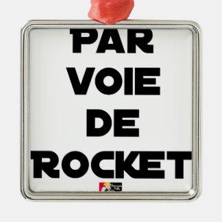 Ornement Carré Argenté PAR VOIE DE ROCKET - Jeux de mots - Francois Ville