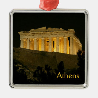 Ornement Carré Argenté Parthenon