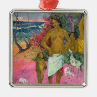 Ornement Carré Argenté Paul Gauguin   une promenade par la mer, 1902